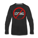 No Looting / Men Premium LS RBlk Distressed - black