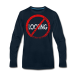 No Looting / Men Premium LS RBlk Distressed - deep navy