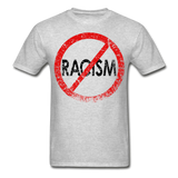 No Racism / Men Tagless RBlk Distressed - heather gray