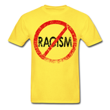 No Racism / Men Tagless RBlk Distressed - yellow