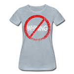 No Whining / Wom. Perfectly Basic RW Distressed - heather ice blue