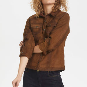 Denim Hunter Leather Shirt