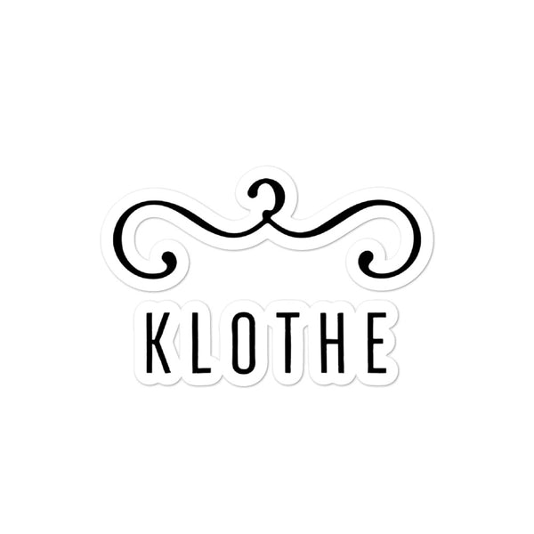 KLOTHE Premium Bubble-free stickers