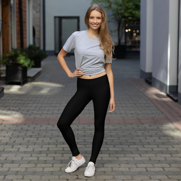 Plain Black Leggings for Women | Klothe Premium Wear