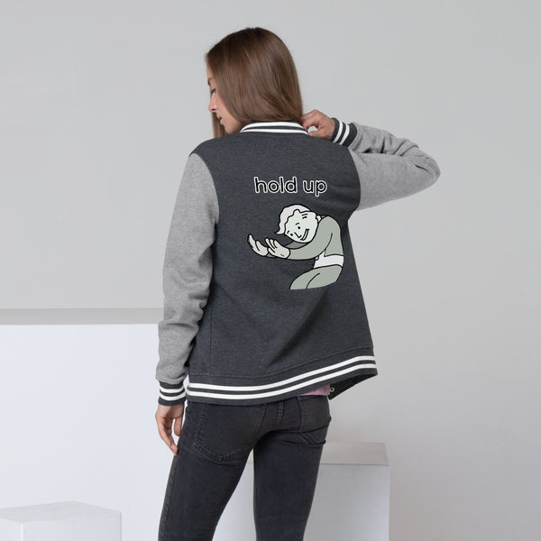 Hold up Women's Letterman Jacket