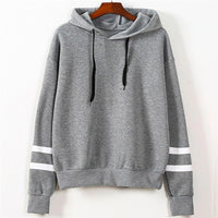 Striped-Sleeve Hoodie for Women