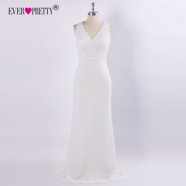 Boho Ivory Wedding Dress For Women