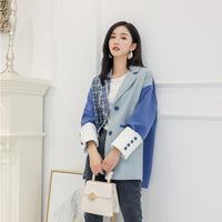 Irregular Stitching Coat For Women