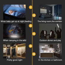 Load image into Gallery viewer, LED Closet Light, Stick-on Anywhere Motion Sensor & Light Sensor Activated Night Light