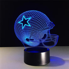 Load image into Gallery viewer, Dallas Cowboys Helmet lamparas 3d led lamp 7 Colors