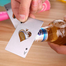 Load image into Gallery viewer, Poker Card Beer Bottle Opener