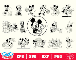 Disney Easter Minnie And Mickey Bundle Svg, Dxf, Eps, Png, Clipart, Silhouette and Cut files for Cricut & Silhouette Cameo #2