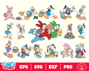 Disney Easter Donald and Daisy Bundle Svg, Dxf, Eps, Png, Clipart, Silhouette and Cut files for Cricut & Silhouette Cameo #5