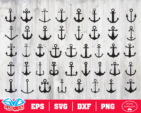 Anchor Svg, Dxf, Eps, Png, Clipart, Silhouette and Cutfiles