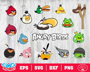 Angry birds Svg, Dxf, Eps, Png, Clipart, Silhouette and Cutfiles