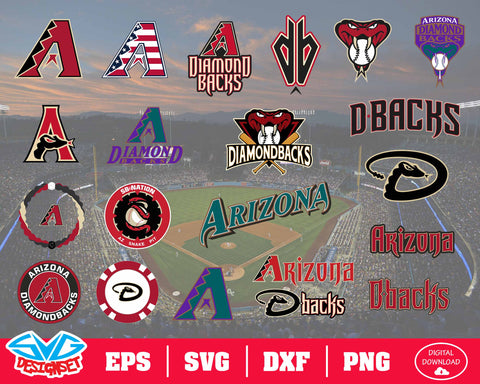 Arizona Diamondbacks Team Svg, Dxf, Eps, Png, Clipart, Silhouette and Cutfiles