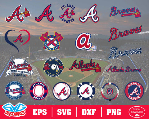 Atlanta Braves Team Svg, Dxf, Eps, Png, Clipart, Silhouette and Cutfiles