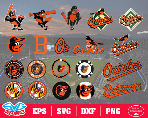 Baltimore Orioles Team Svg, Dxf, Eps, Png, Clipart, Silhouette and Cutfiles