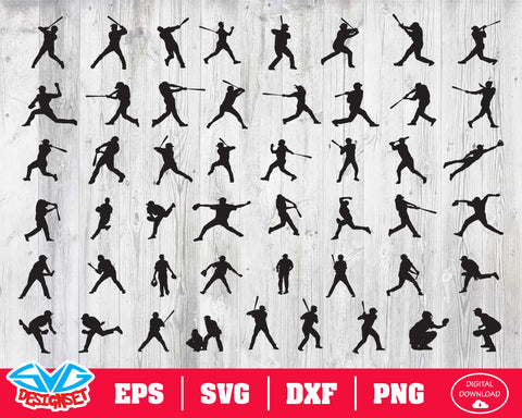 Baseball Svg, Dxf, Eps, Png, Clipart, Silhouette and Cutfiles