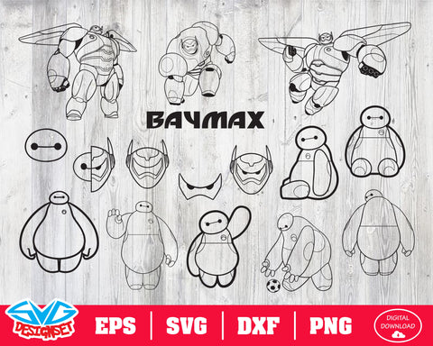 Baymax Svg, Dxf, Eps, Png, Clipart, and Cutfiles #2