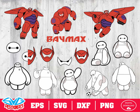 Baymax Svg, Dxf, Eps, Png, Clipart, Silhouette and Cutfiles #1
