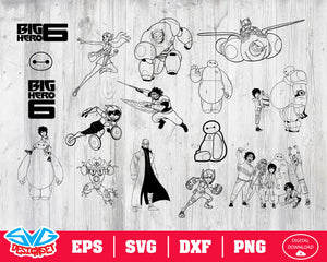 Big Hero 6 Svg, Dxf, Eps, Png, Clipart, Silhouette and Cutfiles #2