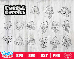Bubble Guppies Svg, Dxf, Eps, Png, Clipart, Silhouette and Cutfiles #2
