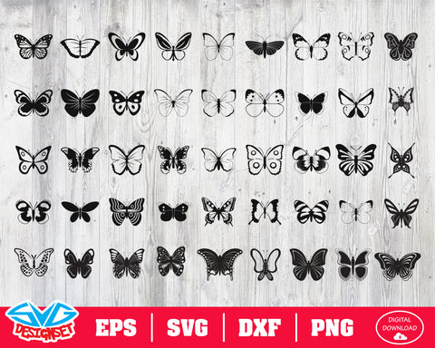 Butterfly Svg, Dxf, Eps, Png, Clipart, Silhouette and Cutfiles #2
