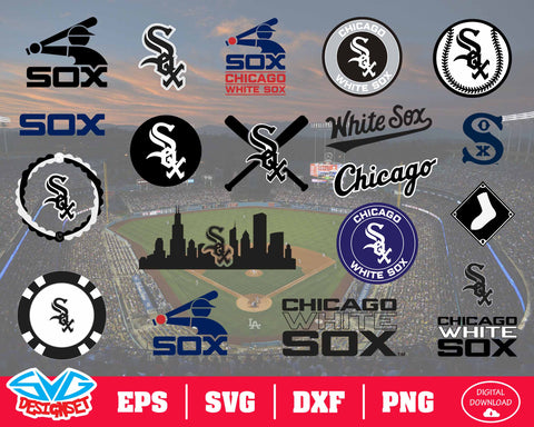 Chicago White Sox Team Svg, Dxf, Eps, Png, Clipart, Silhouette and Cutfiles