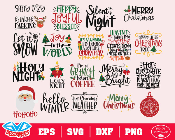 Christmas Big Bundle Svg, Dxf, Eps, Png, Clipart, Silhouette and Cutfiles #1