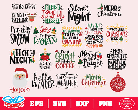 Christmas Bundle Svg, Dxf, Eps, Png, Clipart, Silhouette and Cutfiles #5