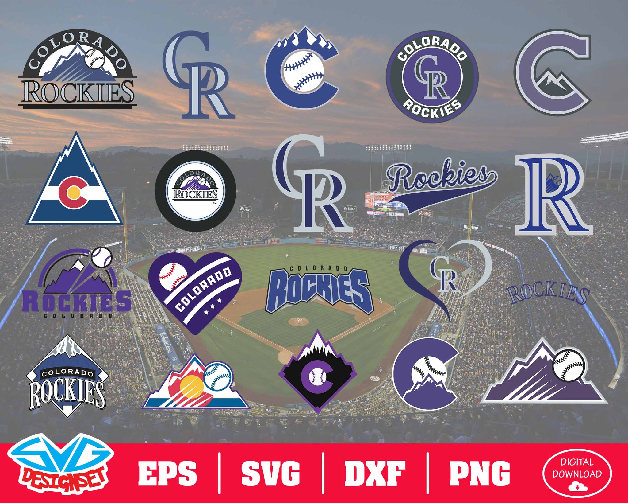 Colorado Rockies Team Svg, Dxf, Eps, Png, Clipart, Silhouette and Cutfiles