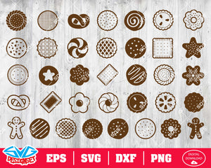 Cookie Svg, Dxf, Eps, Png, Clipart, Silhouette and Cutfiles