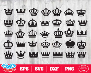 Crown Svg, Dxf, Eps, Png, Clipart, Silhouette and Cutfiles