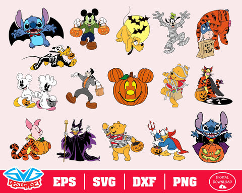 Disney Halloween Svg, Dxf, Eps, Png, Clipart, Silhouette and Cutfiles #3