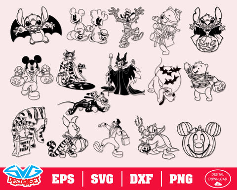 Disney Halloween Svg, Dxf, Eps, Png, Clipart, Silhouette and Cutfiles #6