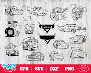Disney cars Svg Dxf, Eps, Png, Clipar, Silhouette and Cutfiles #2