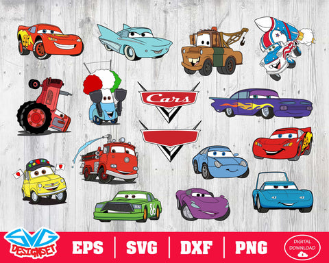 Disney cars Svg, Dxf, Eps, Png, Clipart, Silhouette and Cutfiles #1