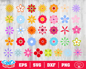 Flower Svg, Dxf, Eps, Png, Clipart, Silhouette and Cutfiles #5