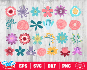 Flower Svg, Dxf, Eps, Png, Clipart, Silhouette and Cutfiles #3