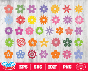 Flower Svg, Dxf, Eps, Png, Clipart, Silhouette and Cutfiles #6