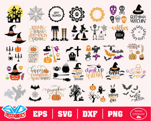 Halloween Bundle Svg, Dxf, Eps, Png, Clipart, Silhouette and Cutfiles #6
