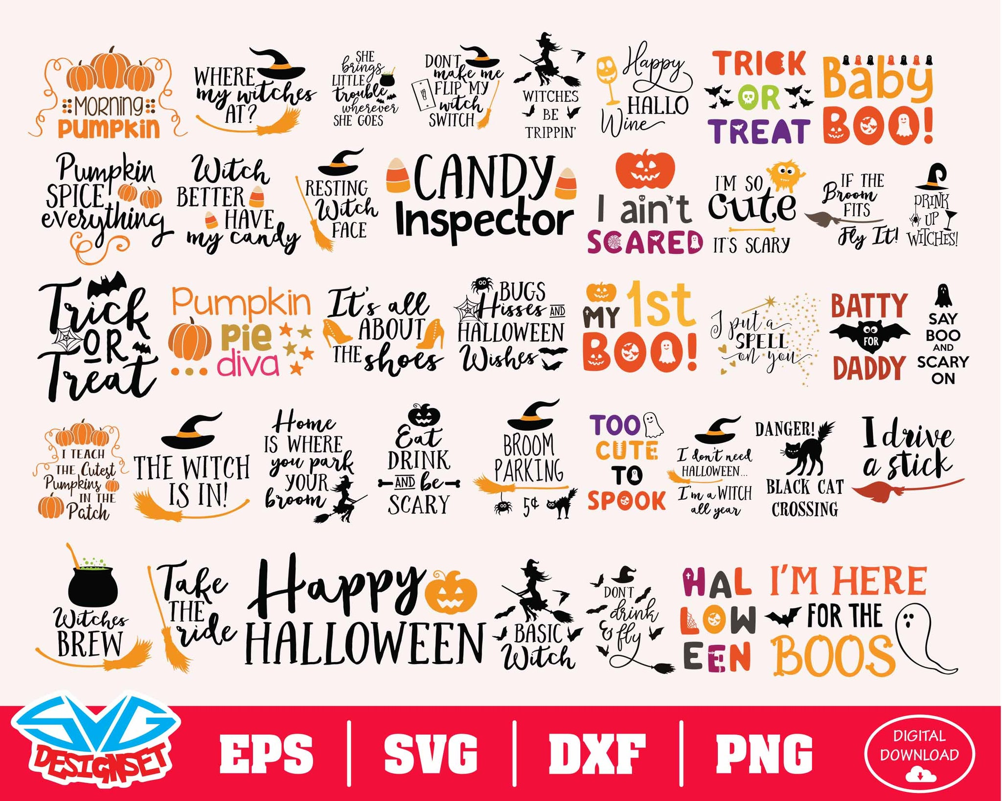 Halloween Bundle Svg, Dxf, Eps, Png, Clipart, Silhouette and Cutfiles #7