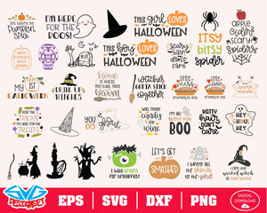 Halloween Bundle Svg, Dxf, Eps, Png, Clipart, Silhouette and Cutfiles #2
