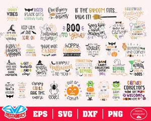 Halloween Bundle Svg, Dxf, Eps, Png, Clipart, Silhouette and Cutfiles #4