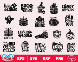 Halloween Svg, Dxf, Eps, Png, Clipart, Silhouette and Cutfiles #4