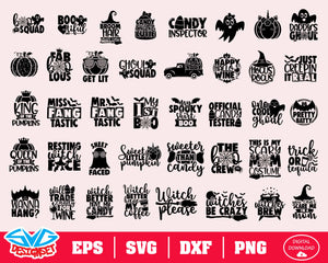Halloween Bundle Svg, Dxf, Eps, Png, Clipart, Silhouette and Cutfiles #9