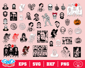 Horror Movie Killers Svg, Dxf, Eps, Png, Clipart, Silhouette and Cutfiles