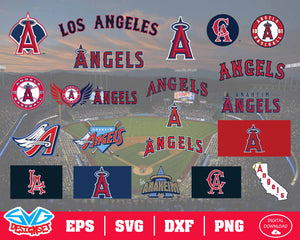Los Angeles Angels Team Svg, Dxf, Eps, Png, Clipart, Silhouette and Cutfiles