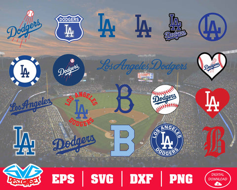 Los Angeles Dodgers Team Svg, Dxf, Eps, Png, Clipart, Silhouette and Cutfiles